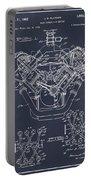1954 Chrysler 426 Hemi V8 Engine Blackboard Patent Print Portable Battery Charger