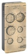 1954 Wiffle Ball Patent Print Antique Paper Portable Battery Charger