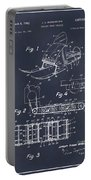 1960 Bombardier Snowmobile Blackboard Patent Print Portable Battery Charger