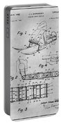 1960 Bombardier Snowmobile Gray Patent Print Portable Battery Charger
