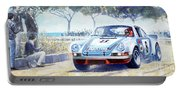 1973 Targa Floria Porsche 911 Carrera Rsr Martini Racing Lennep Muller Winner  Portable Battery Charger