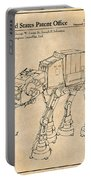 1982 Star Wars At-at Imperial Walker Antique Paper Patent Print Portable Battery Charger