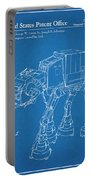 1982 Star Wars At-at Imperial Walker Blueprint Patent Print Portable Battery Charger