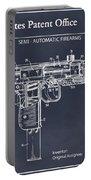 1982 Uzi Submachine Gun Blackboard Patent Print Portable Battery Charger
