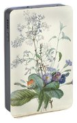 A Bouquet Of Flowers With Insects  Portable Battery Charger