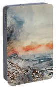 Digital Watercolor Painting Of Beautiful Winter Landscape At Vib Portable Battery Charger