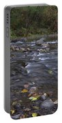 Long Exposure Photographs Of Rolling River With Fall Foliage Portable Battery Charger
