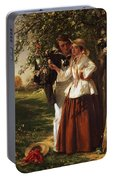 Lovers Under A Blossom Tree Portable Battery Charger