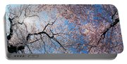 Low Angle View Of Cherry Blossom Trees Portable Battery Charger