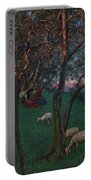 Olive Grove At Lake Garda Portable Battery Charger