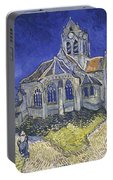 The Church In Auvers Sur Oise  View From The Chevet  Portable Battery Charger