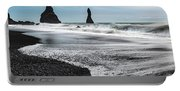 The Dramatic Black Sand Beach Of Reynisfjara. Portable Battery Charger