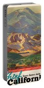 Vintage Poster - California Portable Battery Charger