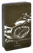 2016 Bmw K1600gt Blueprint, Original Motorcyclkes Blueprints, Bmw Artworks, Vintage Brown Background Portable Battery Charger