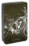 2018 Triumph Street Triple R Blueprint, Vintage Brown Background,gift For Him Portable Battery Charger