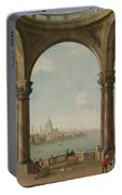Capriccio With St. Pauls And Old London Bridge Portable Battery Charger