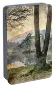 Digital Watercolor Painting Of Beautiful Landscape Image Of Tarn Portable Battery Charger