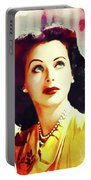 Hedy Lamarr, Vintage Movie Star Portable Battery Charger