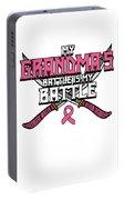 Breast Cancer Awareness Art For Warrior Women Light Dark Portable Battery Charger