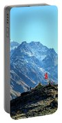 Machapuchare Mountain Fishtail In Himalayas Range Nepal Portable Battery Charger by Raimond Klavins