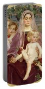 Madonna Of Giverny  Portable Battery Charger