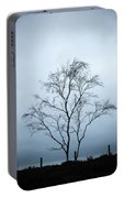 Moody Winter Landscape Image Of Skeletal Trees In Peak District  Portable Battery Charger