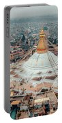 Stupa Temple Bodhnath Kathmandu, Nepal From Air October 12 2018 Portable Battery Charger by Raimond Klavins