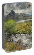 Digital Watercolor Painting Of Stunning Landscape Image Of Count Portable Battery Charger