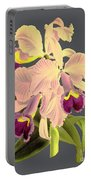 Orchid Old Print Portable Battery Charger