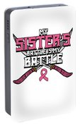 Breast Cancer Awareness Art For Warrior Women Light Dark Portable Battery Charger