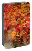 Digital Watercolor Painting Of Beautiful Colorful Vibrant Red An Portable Battery Charger