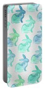 Watercolor Bunnies 1i Portable Battery Charger