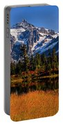 Autumn Colors With Mount Shuksan Portable Battery Charger