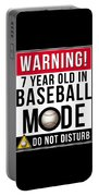 7 Year Old In Baseball Mode Portable Battery Charger