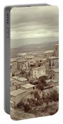 Beautiful Medieval Spanish Village In Sepia Tone Portable Battery Charger