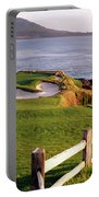 7th Hole At Pebble Beach Golf Links Portable Battery Charger