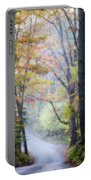 A Canopy Of Autumn Leaves Portable Battery Charger