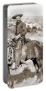 A Cowboy On Horseback, Photo, 19th Century Portable Battery Charger