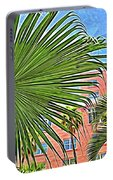 A Don Cesar Palm Frond Portable Battery Charger