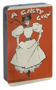A Gaiety Girl, 1894 French Vintage Poster Portable Battery Charger