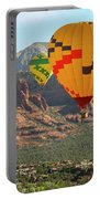 A Hot Air Balloon Foursome Soars Above Sedona, Arizona Portable Battery Charger