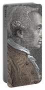 A Portrait Of Immanuel Or Emmanuel Kant Portable Battery Charger