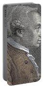A Portrait Of Immanuel Or Emmanuel Kant Portable Battery Charger