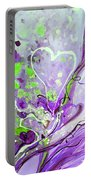 A  Purple Love Story Portable Battery Charger