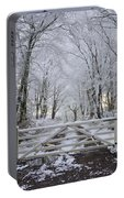 A Snowy Scene Portable Battery Charger