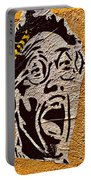 A Terrified Face On A Barcelona Wall  Portable Battery Charger