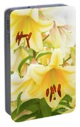A Tower Of Lilies Portable Battery Charger