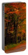 A Walk Through The Autumn Trees 1 Portable Battery Charger