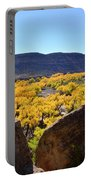 Gorgeous View Of Golden Cottonwood Trees In Canyon Portable Battery Charger