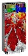 Abstract Fall Acer Stained Glass  Portable Battery Charger